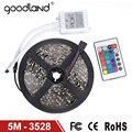 Goodland RGB LED Strip Light SMD3528 Flexible Lamp Light 5M DC12V Receptor Remote Controller High Quality Bright RGB Lamp
