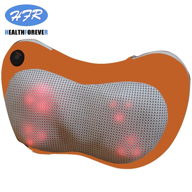 HFR-858-3D HealthForever Brand Luxury Neck Home&Car Massage Pillow Kneading and Shiatsu Machine Lumbar Cushion with Heat