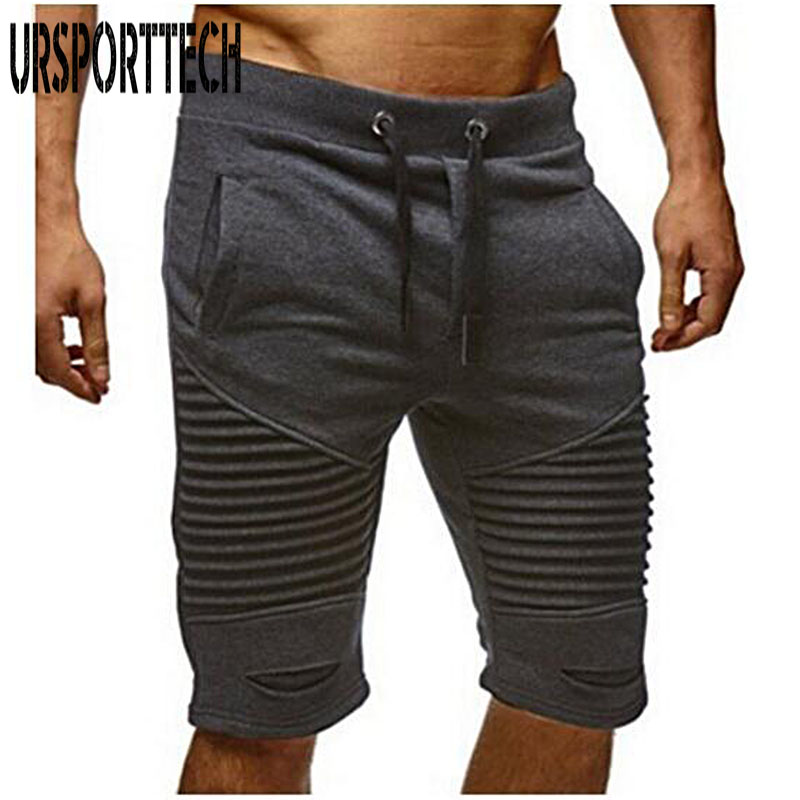 2018 New Fashion Men Sporting Beaching Shorts Trousers Cotton Bodybuilding Sweatpants Fitness Short Jogger Casual Gyms Men Short