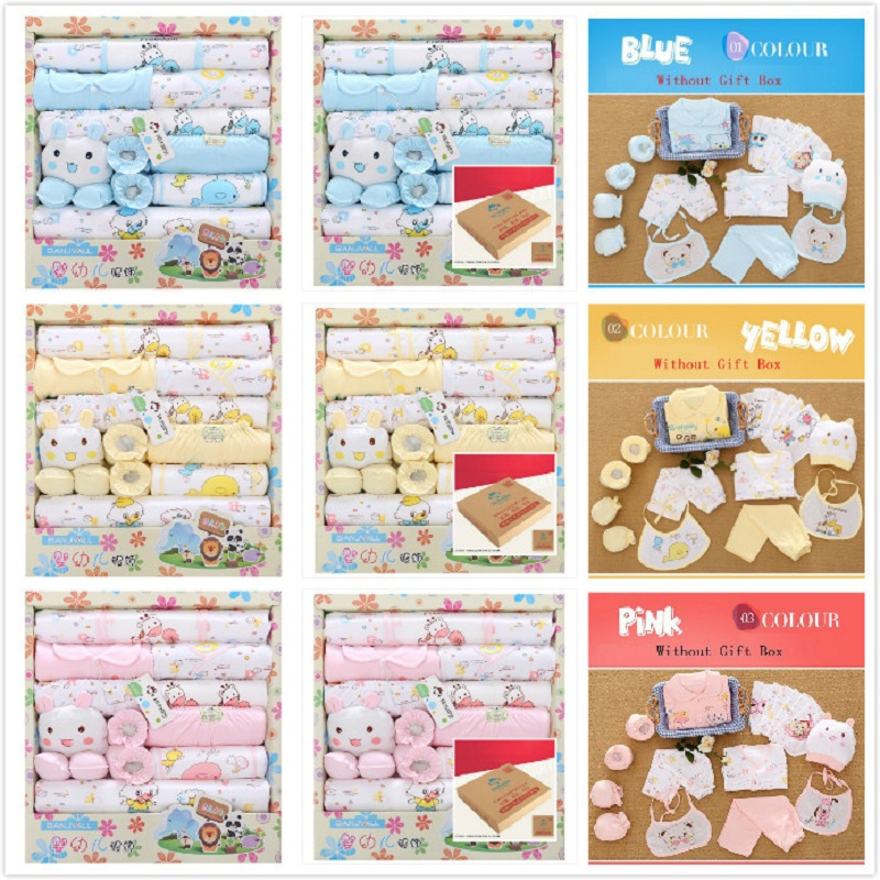 New Style Spring Cotton Newborn Baby Clothing Set Newborn Gift Infant Cute Clothes
