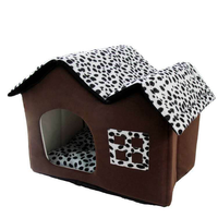 Autumn And Winter New Pet Nest Spot Double Top House Breathable And Comfortable Kennel Collapsible Pet Winter Cat Bed House