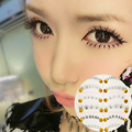 Delicate Charming 10 Pairs Natural Under Bottom Fake False Different Cross Eyelashes Makeup Party Daily Office