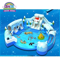 Commercial giant mobile Octopus inflatable water park / waterpark for summer outdoor inflatable park for sake