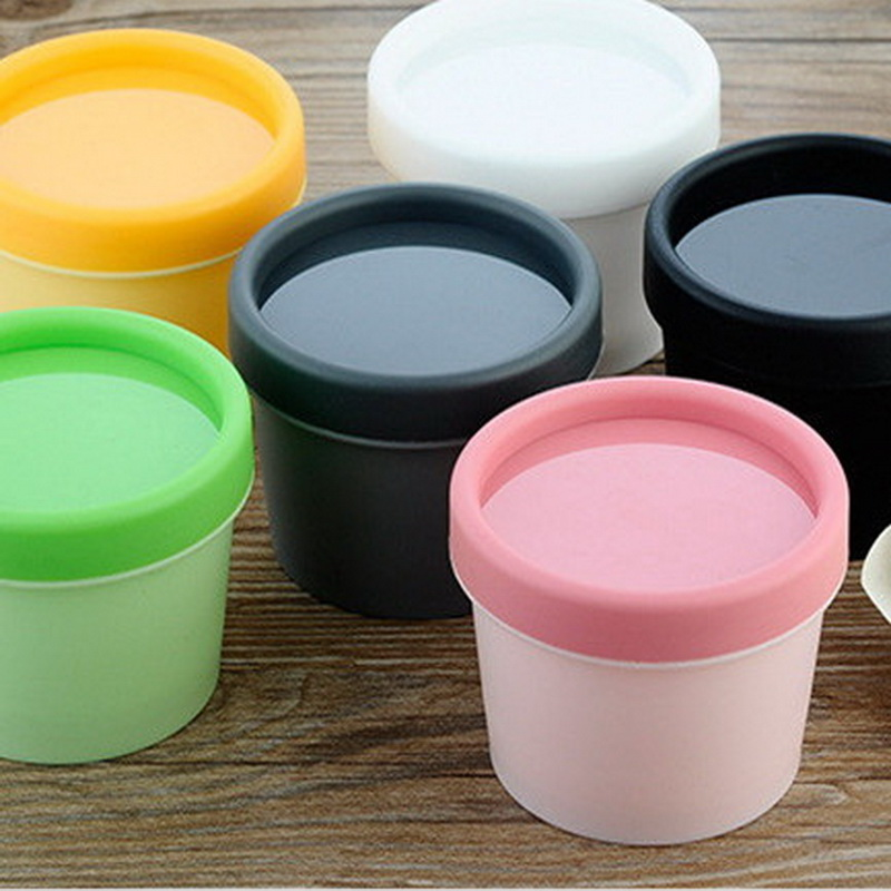 20PCS 50ml 100ml Gram Cosmetic Containers Empty Cylinder Mask PP Bottle Box Facial Mask Cream Jars Makeup Cosmetic Packaging empty cosmetic containers bottle 10gram