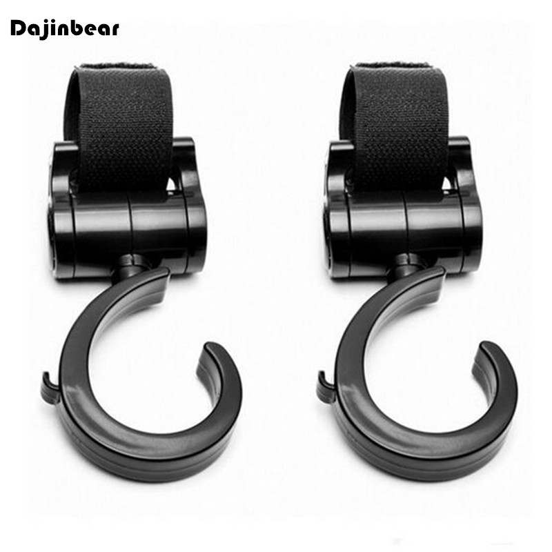 2 PCS Multi Purpose Baby Stroller Hook Pushchair 360 Swivel Hanger Hooks Carriage Storage Bag Baby Carriage Stroller Accessories