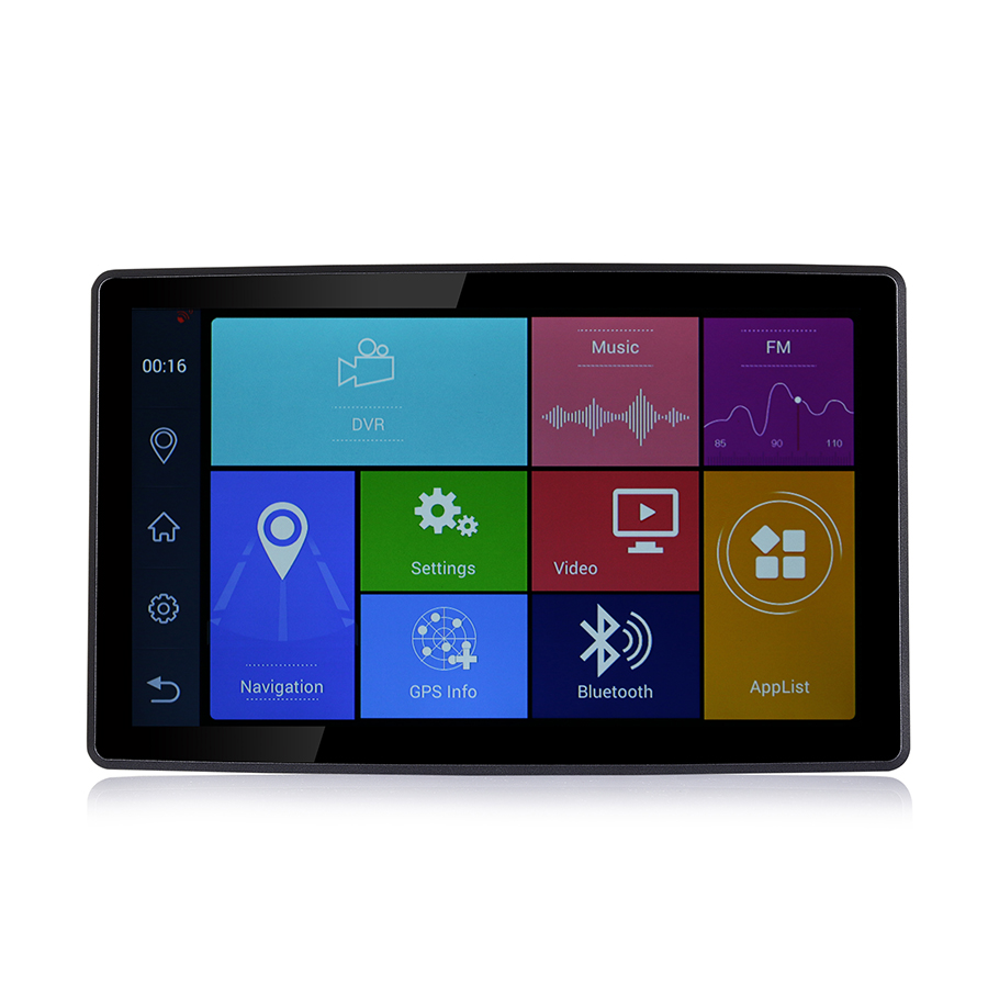Otstrive 9 inch Android Bluetooth Phone WiFi Car Truck Bus GPS Navigation Full HD 1080P ADAS LDWS DVR Video Recorder 16G GPS DVR gps модуль для dvr 630