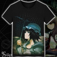 High Q Unisex Japan Steins Gate Makise Kurisu T Shirt Tee T Shirt Anime Steins Gate Cotton Casual T Shirt Tee T Shirt