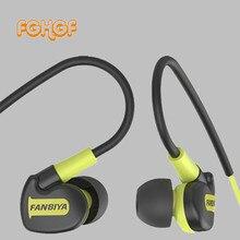 עמיד למים IPX6 Wired אוזניות ספורט אוזניות סופר בס אוזניות ספורט אימון אוזניות אוזניות עם מיקרופון עבור iphone se