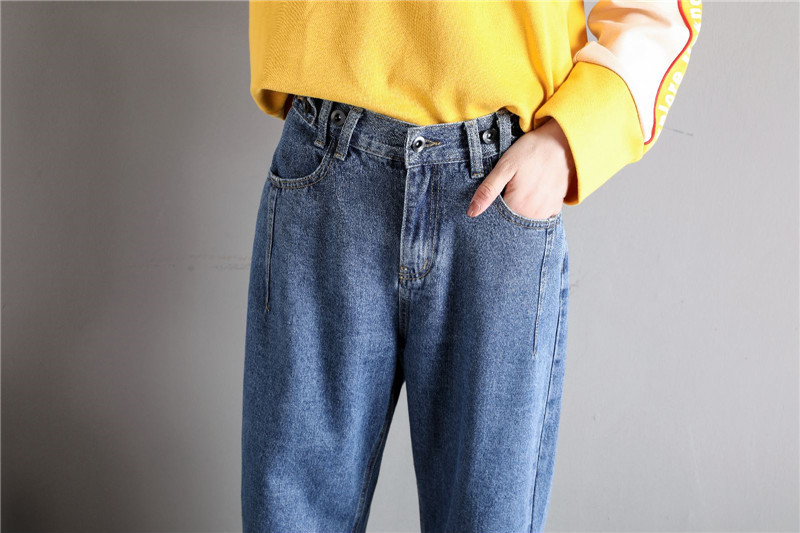 GCAROL New Women 93% Cotton Blends Pencil Denim Pants High Waisted High Street Boyfriend Style Jeans In 3 Colors Plus Size 26-32 25