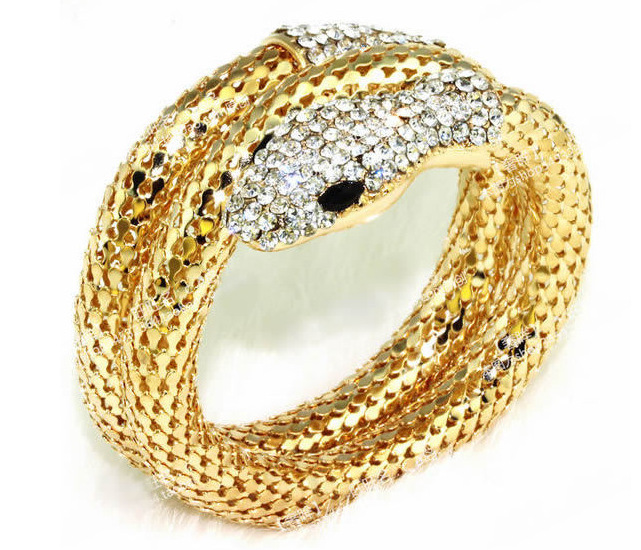 244502c42cdbf US $8.24 YACQ Gecko Bangle Bracelet Antique Gold Silver Color Animal ...