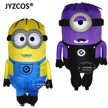 2 m Adults Inflatable Minions Mascots Despicable Me Little Yellow Man Halloween Costume Moveable Jumpsuits disfraces adultos