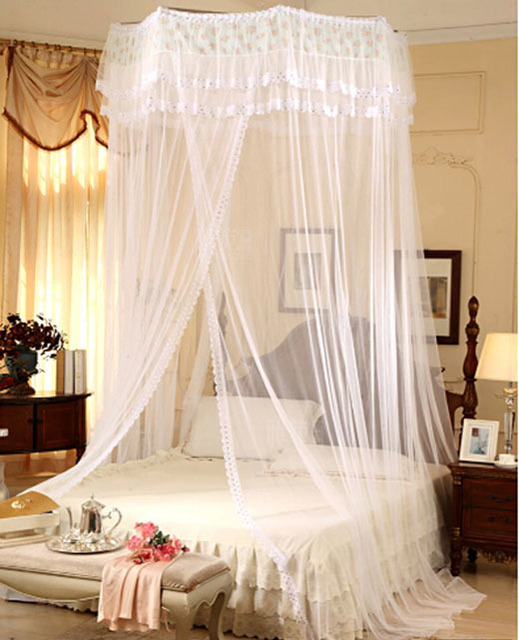 Princess Luxury Mosquito Net Sequins Bed Canopy Double King ...
