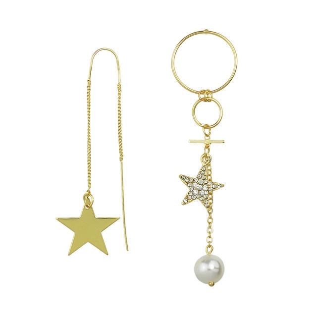 Корея моды горный хрусталь звезды асимметричной серьги