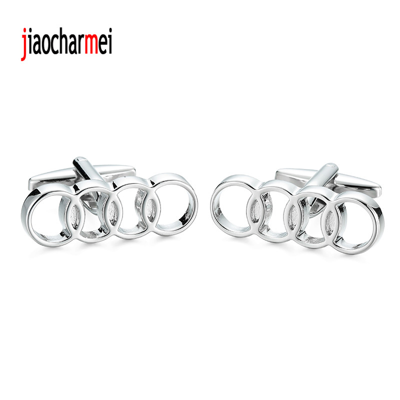 High quality Audi Cufflinks personalized design new fashion car logo style cufflinks, French shirt accessories