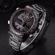 Naviforce Hommes Montre De Mode LED Analogique-Numérique Montres Pour Hommes Sport Montre-Bracelet Saat inoxydable acier relojes mujer 2016 horloge