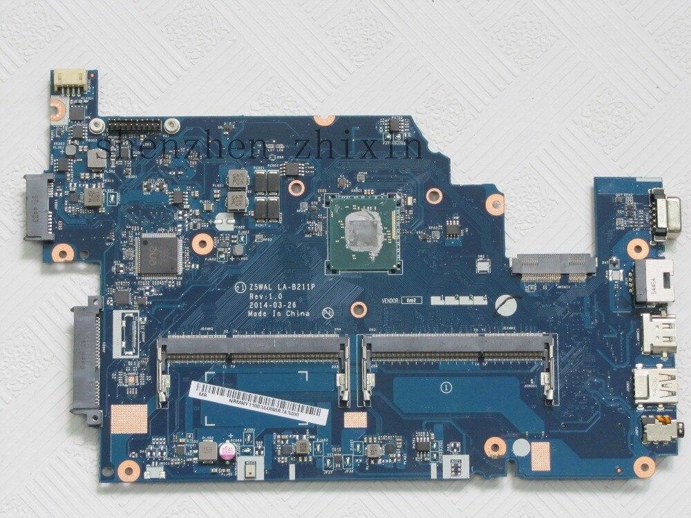 Z5WAL LA-B211P mainboard for Aspire E5 series E5-511 E5-511P E5-511G Laptop Motherboards onboard SR1YW cpu
