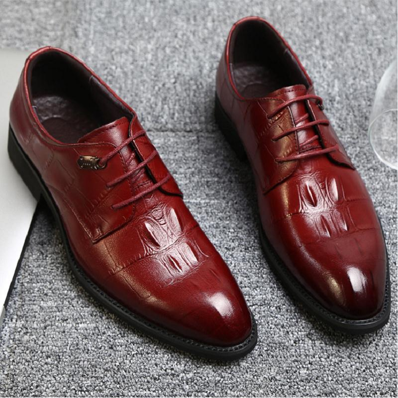 NORTHMARCH Business Mens Genuine Leather Shoes Leather Luxury Dress Shoes Men Four Seasons Male Fashion Flats Men Office Shoes mycolen mens genuine leather shoes dress italian leather male shoes elevator glitter black brown business shoes four seasons