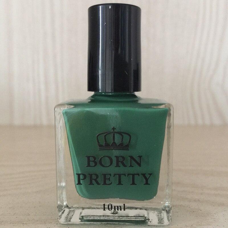 Born pretty 1 botella 10 ml regular Esmaltes de uñas verde oscuro de ...