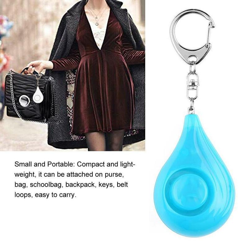 3 Colors Security Alarm Keychain High-decibel SoS Safe Sound Personal Alarm Security Alarm Keychain  Emergency Safety Alarm