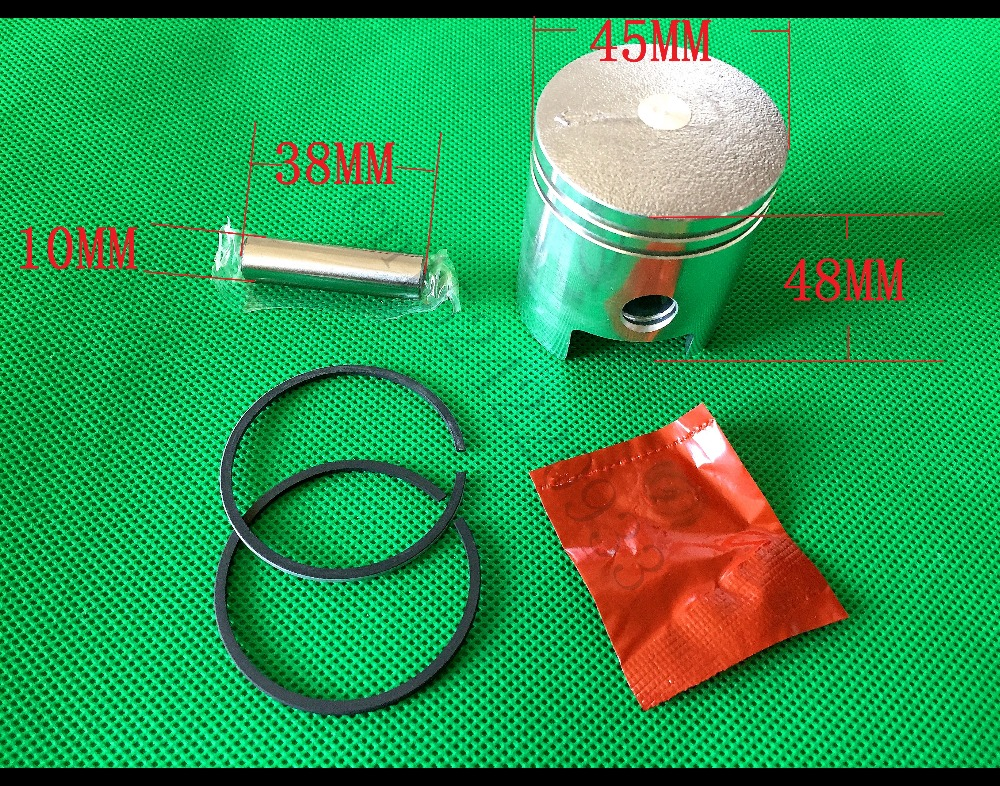 45MM Piston Kit With Ring Pin Clip STD Fit Motor Engine Generator Yamaha ET650 ET950 600W 800W 1.2KW Generator Petrol Parts