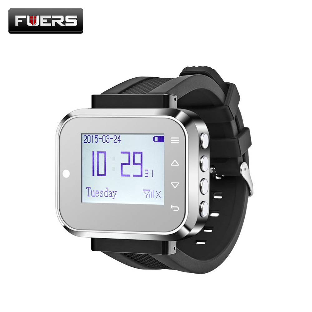 Fuers C166 Wireless Waiter Service Calling System Restaurant Call Pagers Wireless Waiting Pager System wireless sound system waiter pager to the hospital restaurant wireless watch calling service call 433mhz