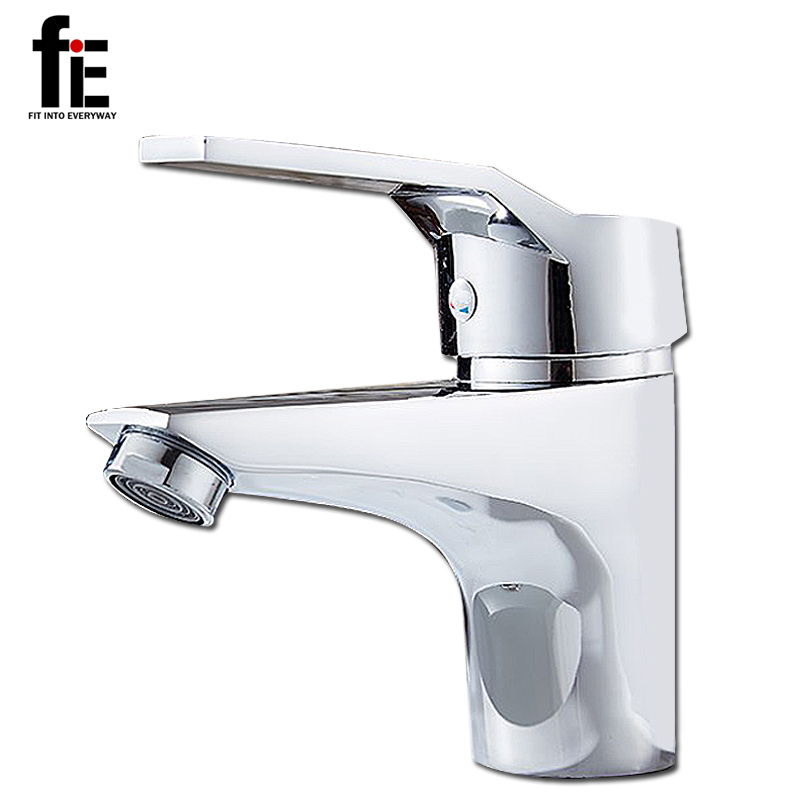 fie bathroom basin faucet vessel sink water tap mixer chrome cold and hot water sink faucet