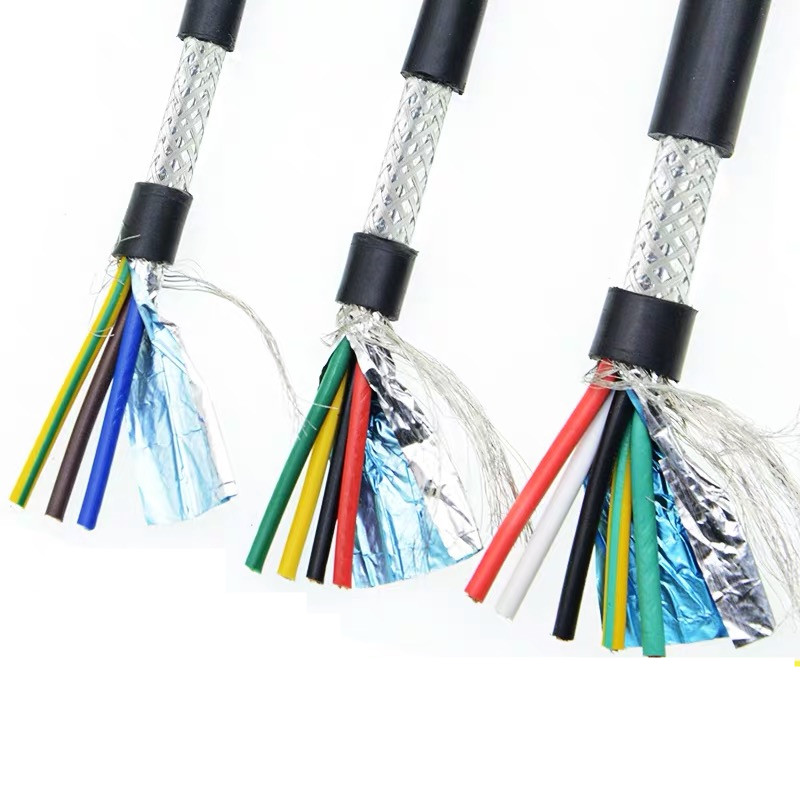 20AWG 18AWG 2/3/4/5/6/7/8 Core Shielded Cable 5meters Pure Copper RVVP Shielded Wire Control Cable UL2547 Signal Wir