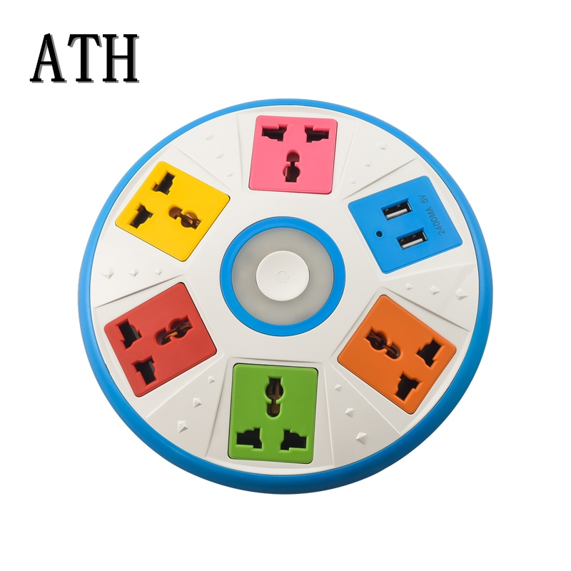 ATH UFO Shapes Multi-Function UK British Standard Socket British Standard USB Arrangement Charging Interface Switch livolo le100 multi function desktop socket countertop manual flip table plug multimedia interface