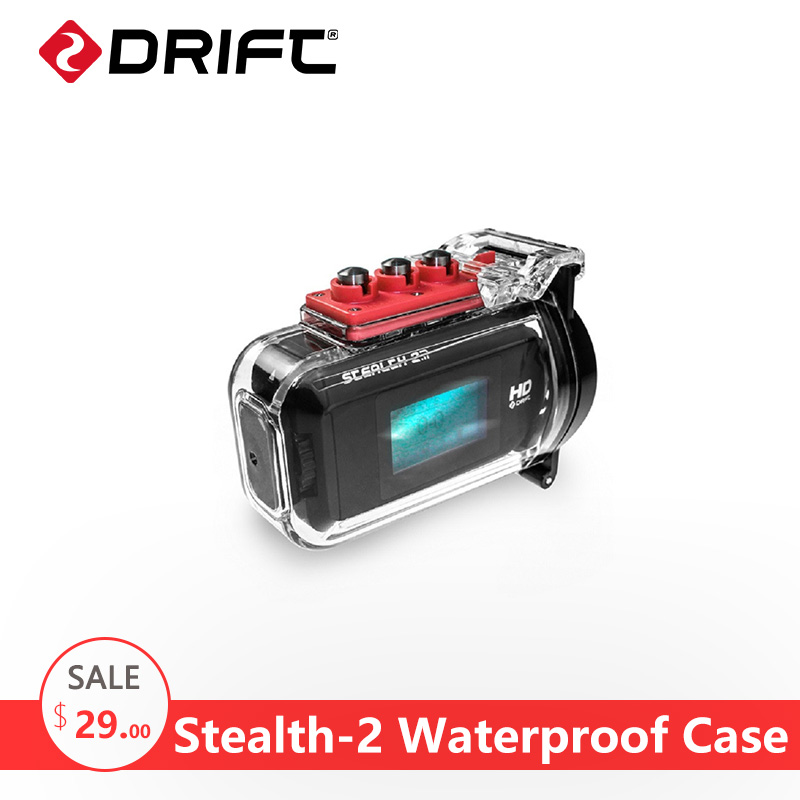 DRIFT Action Camera Accessories Waterproof Case go Sport pro Bike Motorcycle swimsuit 4K Camcorder Waterproof Box for Stealth-2