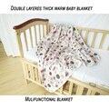 Capas Dobles Mantas de Bebé Recién Nacido Swaddle Muselina de algodón Toalla Ropa de Cama de Colcha de Algodón Recién Nacidos de Recibir Blankets150 * 140 cm
