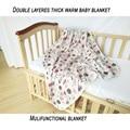 Musselina de algodão Camadas Duplas Cobertores Do Bebê Recém-nascido Swaddle Infantil Toalha Cama Colcha de Algodão Recém-nascidos Recebendo Blankets150 * 140 cm