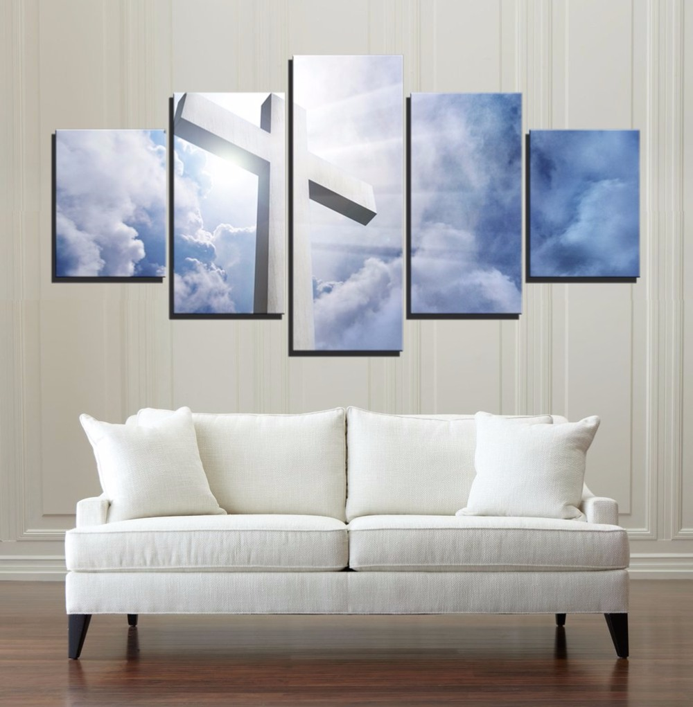 5 Piece Modern Hd Print Painting Christian Light For Home Decor Paintings On Canvas Wall Art