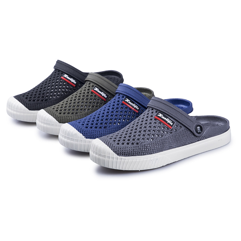 WeiDeng Antiskid Comfortably Summer Beach Water Shoes For Men Sports Sneakers Hiking Sandals Breathable Croc Sandals Slip On ...