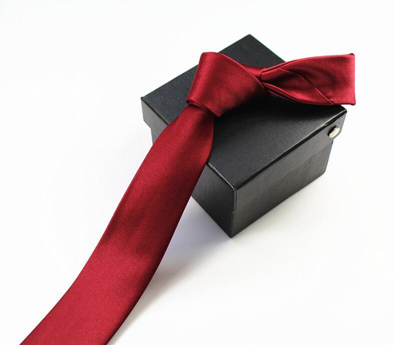 RBOCOTT Solid Skinny Tie Mens Slim Tie Vrijetijdskleding Voor Mannen - Kledingaccessoires - Foto 3