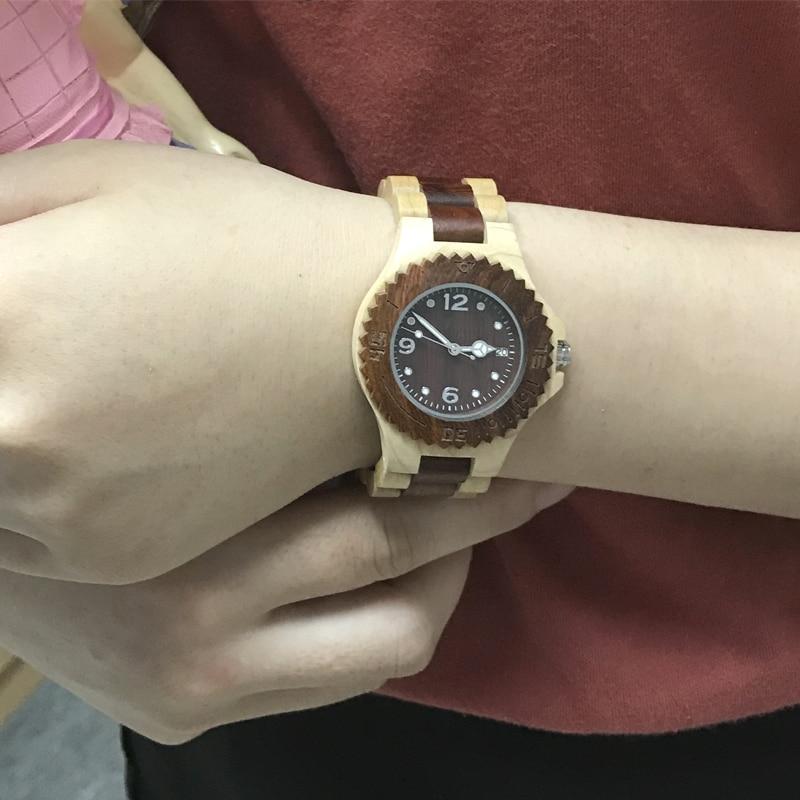SIHAIXIN Woman Wood Watch Ladies Complete Calendar Wooden Clock Relogio Feminino Top Luxury Brand Lady Watches 2017 WristWatch  цена