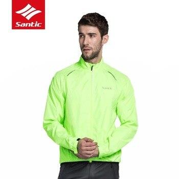 Santic Windproof Men Cycling Jackets Sun-protective MTB Road Bike Outdoor Sport Clothings Rainproof Running Riding Skin Coat