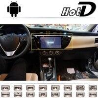 Для Toyota Corolla levin axio Fielder 2013 2014 2015 2016 Автомобильный мультимедийный dvd плеер GPS навигации Android большой Экран Пн navi