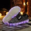 2016 de moda de nova light up led luminoso menina shoes cor brilhante ocasional com nova simulação único responsável para crianças menino