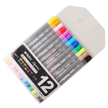 QSHOIC morning beauty water-soluble mark pen manufacturer wholesale double color marker painting