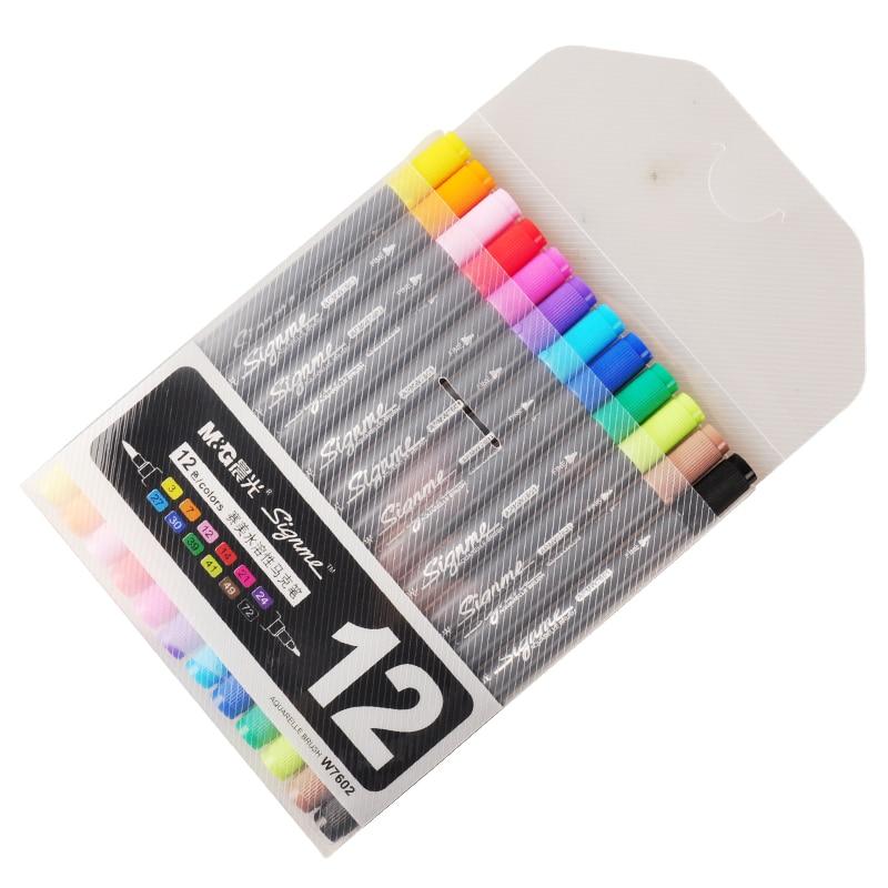 QSHOIC matin beauté soluble dans l'eau marque stylo fabricant en gros double couleur marqueur peinture