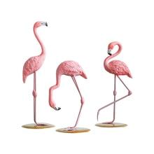 Europe style Creative Flamingo Animals  Home decor crafts resin Figurines Wedding decoration accessories