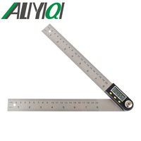 5429-500 0-500mm de nivel de instrumento de medición gobernante ángulo digital del metro del buscador transportador goniómetro nclinometer Acero Inoxidable