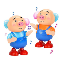 Novelty Seaweed Pig Gag Gifts Music Sing Dancing Light Luminous Lovely Electric Pigs Toy Anti stress Funny Gift For Children