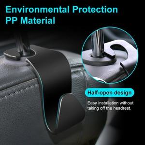 Image 2 - Universal Car Seat Hook Auto Back Seat Headrest Organizer Hanger Storage Holder for Groceries Bag Cloth Handbag Durable