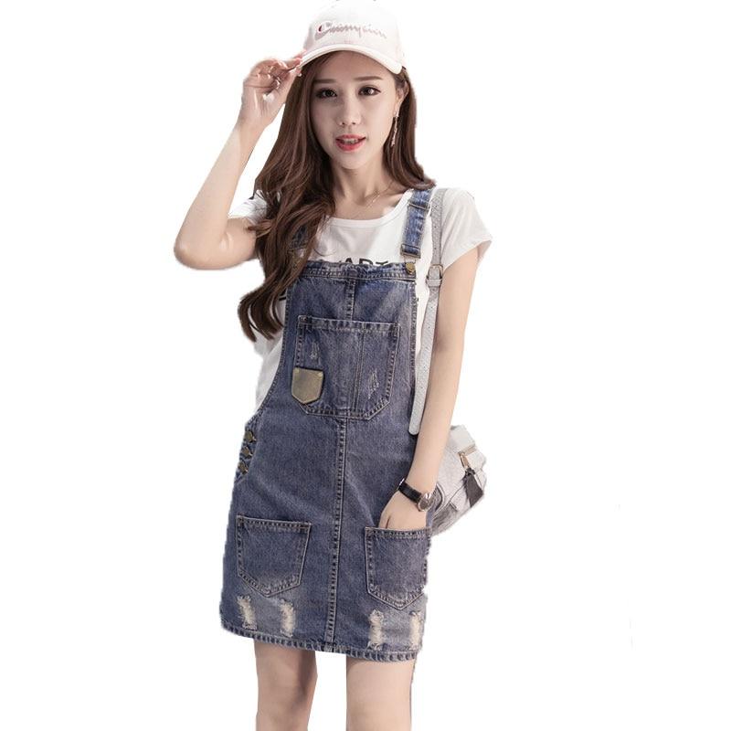 50797456619 vestidos 2018 Plus Size summer Jeans Dress Women Washed sleeveless  Suspender Denim Dress Sundress Denim Mini Dress Female LJ060-in Dresses  from Women s ...