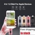 Хит! OTG USB флэш-накопитель 16G/32G/64G/128G/256G 4in1 для iOS iPhone6S 7Plus8 X Android Type-C Pendrive Multi-Func