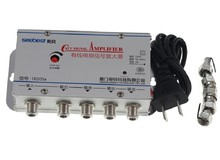 EU 플러그 4 웨이 CATV VCR TV 안테나 신호 증폭기 부스터 스플리터 30DB 45 880MHz 220V