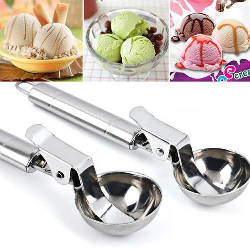 Stainless Steel Ice Cream Scoop Ice Ball Maker Frozen Yogurt Cookie Dough Balls