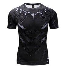 New 2018 Fashion Batman Tops Compression funny Tees Fitness Superhero Superman T shirt Summer Round Neck