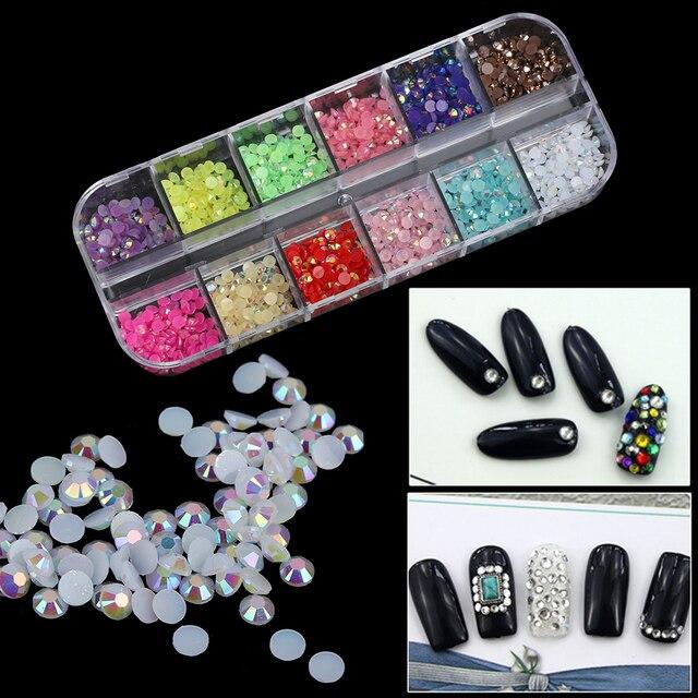 1 Box Mix Teardrop Heart Sticker Gems 2mm 3D Nail Art Rhinestones ...